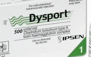 «Диспорт» (Dysport) — описание работы препарата