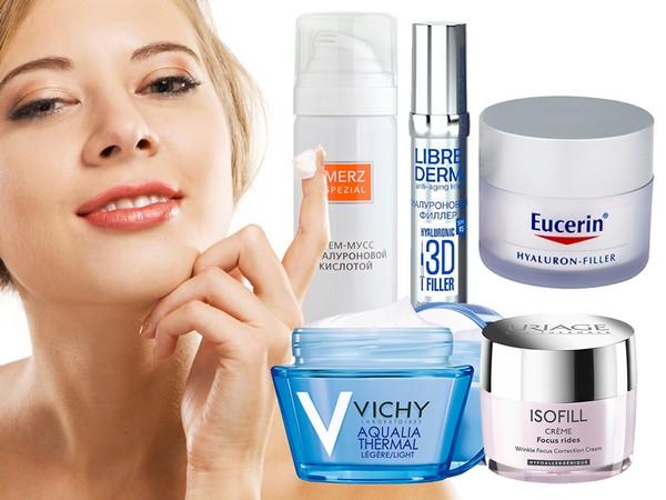 Для увлажнения кожи можно пользоваться средствами с гиалуроновой кислотой