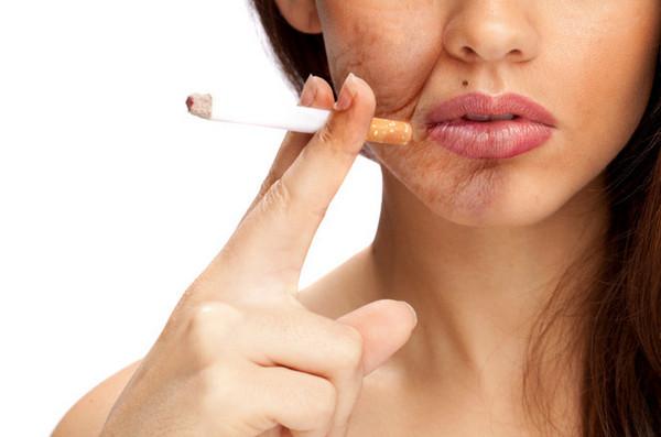Вредные привычки негативно влияют на состояние кожи лица