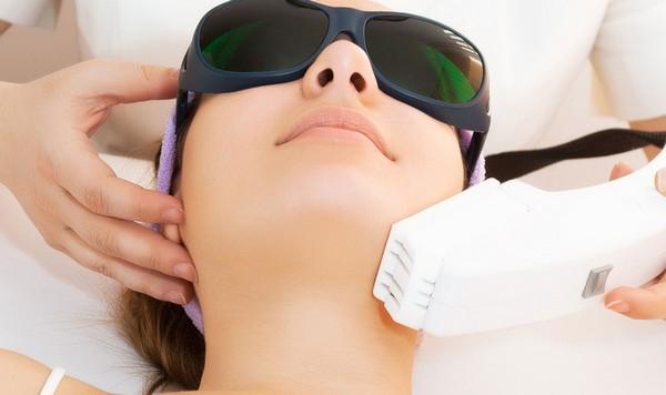 Лазер можно использовать на любом участке кожи лица