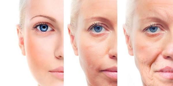 Больше всего возрастные изменения видны, конечно, на коже лица