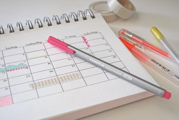 Расписание поможет строго следить за собой