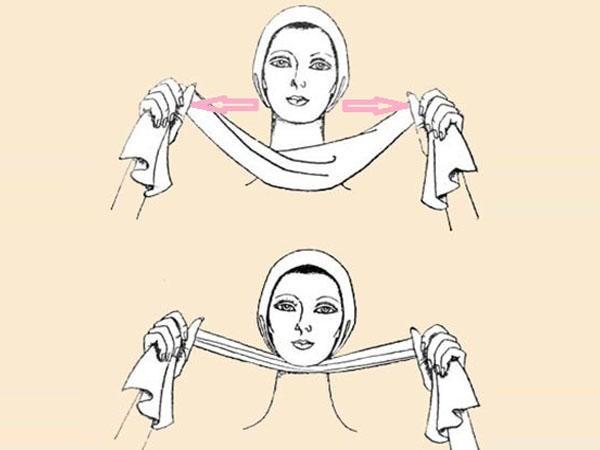 Рекомендуется делать массаж подбородка