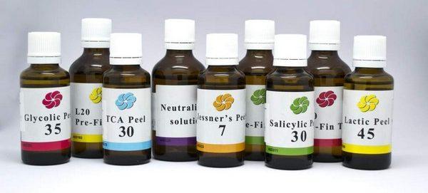 Используются различные типы кислот