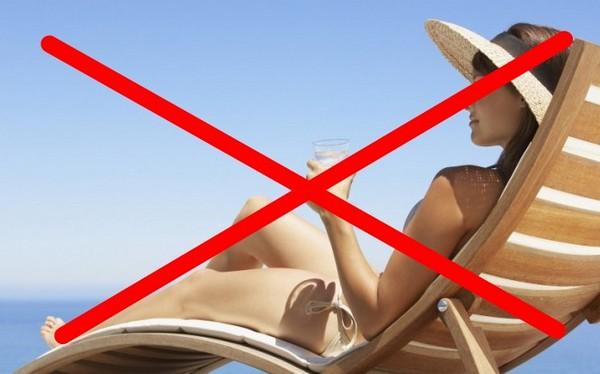 После косметологических процедур загорать не рекомендуется