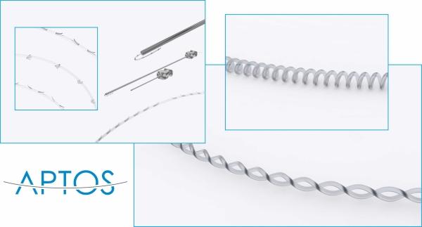 Нити Aptos отличаются от других нитей не только составом, но и формой