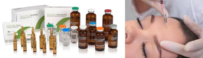 Коктейли для мезотерапии содержат целый комплекс полезных для кожи веществ