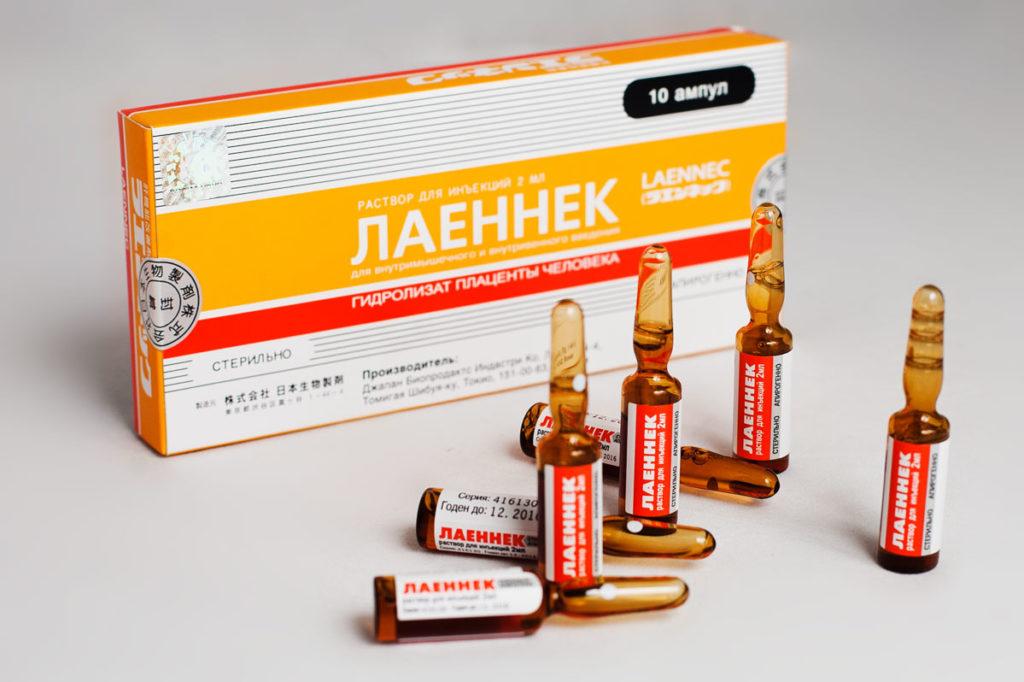 Лаеннек тоже содержит плаценту и производится в Японии
