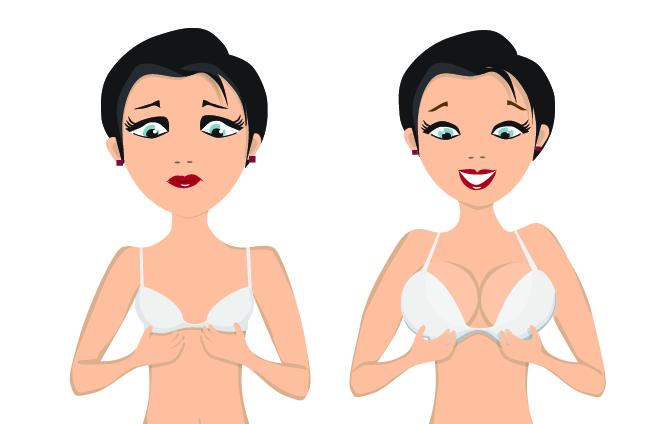 Чаще всего импланты применяют для увеличения груди
