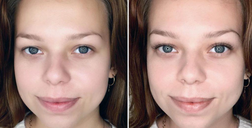 Фото до и после ламинирования с ботоксом № 1