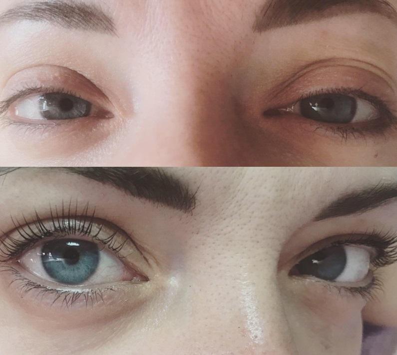Фото до и после ламинирования с ботоксом № 2