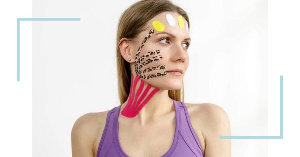 Тейпы при лимфатическом дренаже всей лицевой зоны